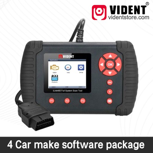 Vident iLink400 Scan Tool Software Package (4 Car Makes Softwares)
