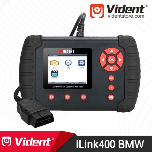Vident iLink400 Full-System OBD2 Diagnostic Scanner for (BMW Mini Rolls Royce) Send a BMW 20 PIN to 16 PIN Cable