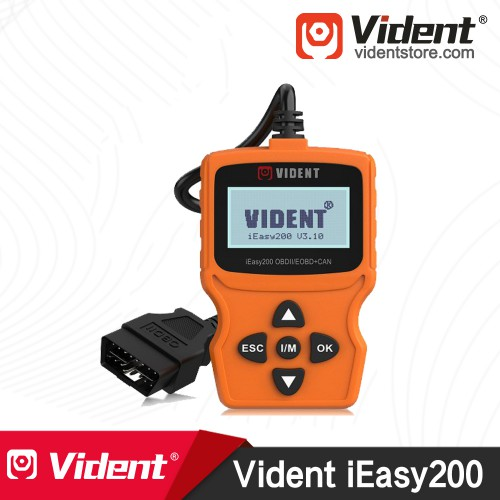 VIDENT iEasy200 OBDII/EOBD+CAN Fault Code Reader Scan Tool Multi-Language