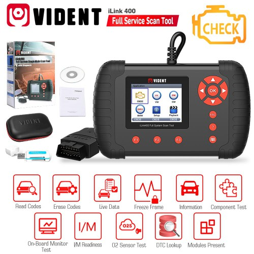 (Ship from US) Vident iLink400 (GM Chevrolet Cadillac Buick) Bi-Directional OBD2 Diagnostic Scanner till 2019