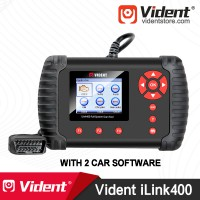 VIDENT iLink400 Full System OBD2 Bi-directional Scan tool (with 2 Car Make Softwares)