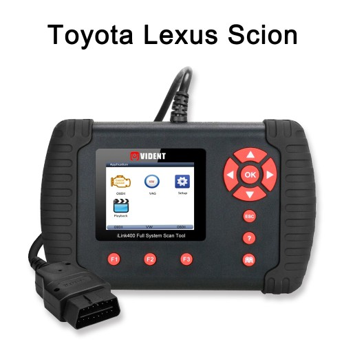 VIDENT iLink400 (Toyota Lexus Scion) Full System OBD2 Scan Tool ABS SRS