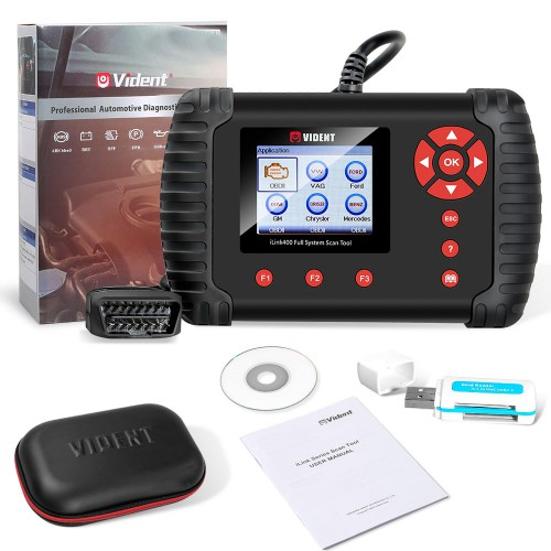 (Ship from US) VIDENT iLink400 Full System OBD2 Bi-directional Scan tool (with 2 Car Make Softwares)