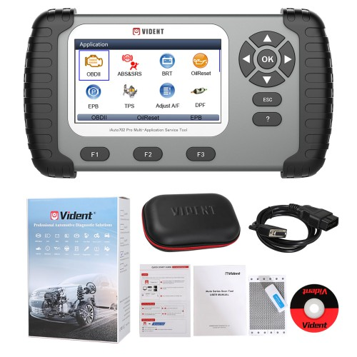 (Ship from US/UK, No Tax) VIDENT iAuto702 Pro ABS/SRS OBD2 Scan Tool iAuto 702 Pro with 25 Special Functions Update Online