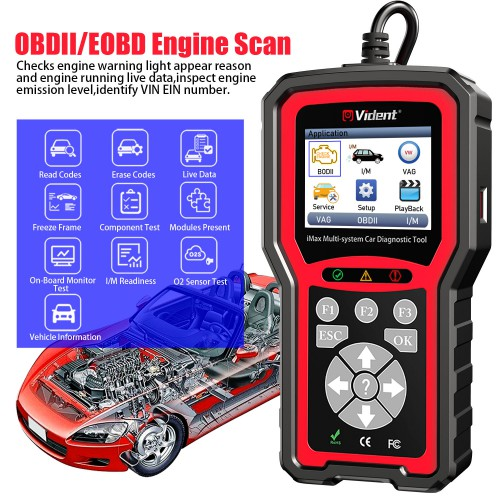 VIDENT iMax4301 VAWS V-A-G OBD Diagnostic Service Tool Supports 9 Special Functions