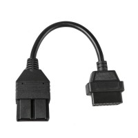 For KIA OBD1 20 Pins to OBDII 16 Pins Diagnostic Adapter Cable Free Shipping