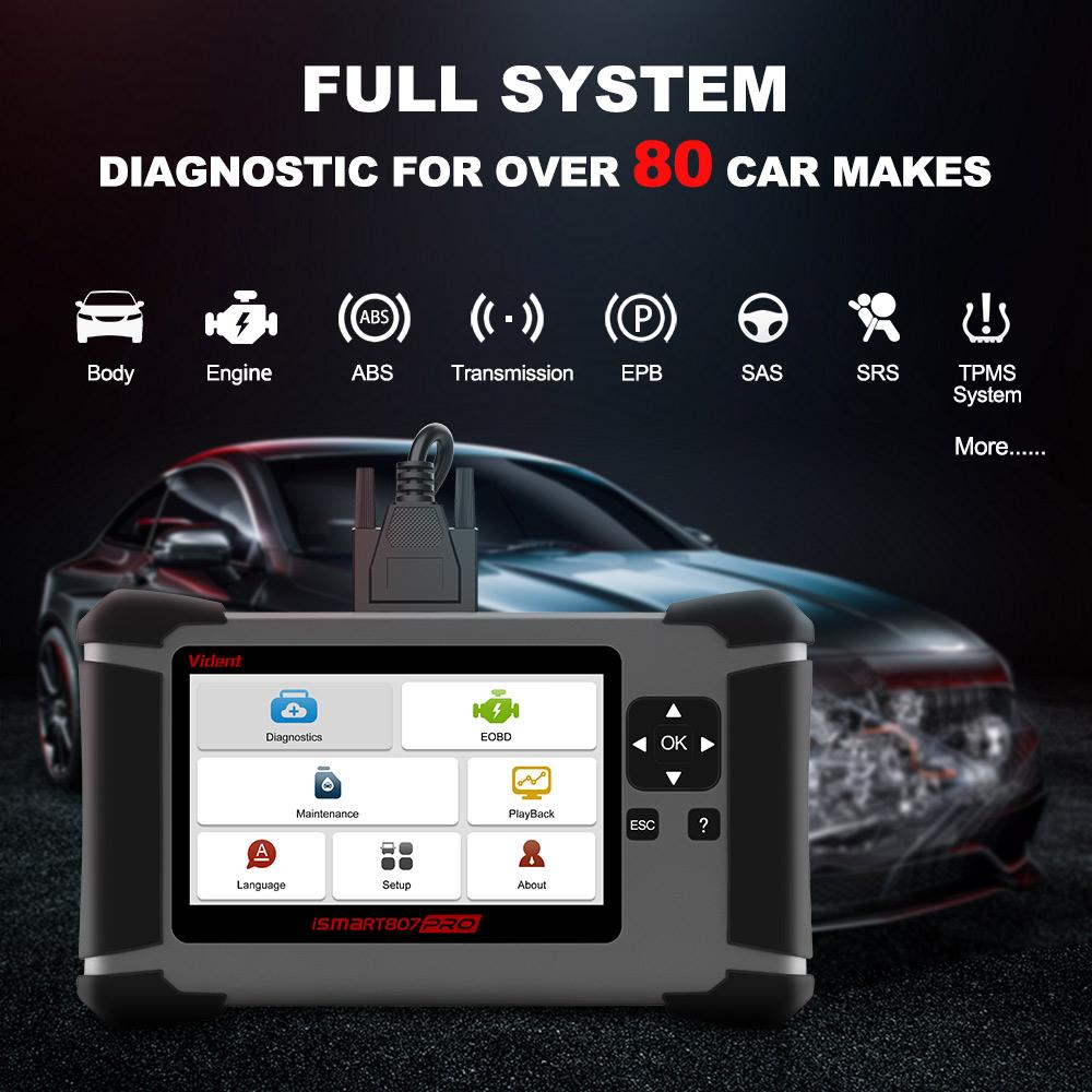 iSmart 807 Pro Scanner Features